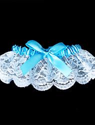 Giarrettiera Di pizzo Fiocco Blu