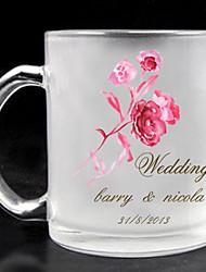 personalizado vidro fosco - tema rosa