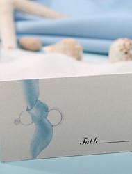 Недорогие -карта места и держатели карта места - синяя печать (набор из 12) свадебный прием