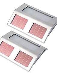 cheap -2PCS Solar Panel Powered 4LED Light for Pathway Outdoor Stair Step Garden Yard