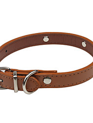 cheap -Dog Collar Adjustable / Retractable Cute and Cuddly PU Leather Brown Red