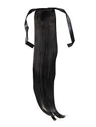 זול -קוקו ישר קלאסי שיער סינטטי 22 אינץ' ארוך הַאֲרָכַת שֵׂעָר יומי