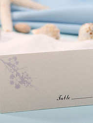 sted kort - blomme blomster (sæt af 12) placecard indehavere bryllup reception