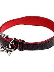 baratos -Gato Cachorro Colarinho Retratável Coração PU Leather Roxo Rosa Verde Azul Azul marinho