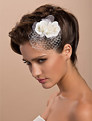 cheap -Tulle Crystal Fabric Tiaras Fascinators Flowers 1 Wedding Special Occasion Party / Evening Casual Outdoor Headpiece