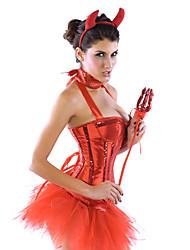 Ange et Diable Costumes de Cosplay Costume de Soirée Féminin Halloween Carnaval Fête / Célébration Déguisement d'Halloween Mosaïque