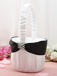"cheap -Flower Basket Wood / Satin 3 1/2"" (9 cm) Acrylic / Rhinestone / Bows"