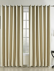 cheap -Two Panels Curtain Modern , Solid Bedroom Polyester Material Curtains Drapes Home Decoration For Window