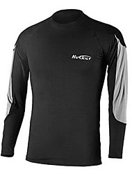 Nuckily Men's Cycling Base Layer Running T-Shirt Long Sleeves Thermal / Warm Quick Dry Front Zipper Wearable Breathable Underwear Top for