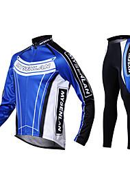 economico -Mysenlan Per uomo Manica lunga Maglia con pantaloni da ciclismo Bicicletta Calze/Collant/Cosciali Maglietta/Maglia Set di vestiti, Tenere