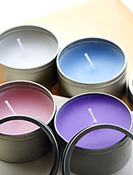 Classic Candle With Round Tin Holder (More Colors) Wedding Favors