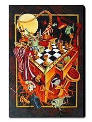 Ručně malované Abstraktní Vertikální Jeden panel Plátno Hang-malované olejomalba For Home dekorace