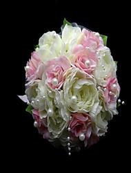 Hochzeitsblumen Rundförmig Rosen Sträuße Hochzeit Partei / Abend Satin Baumwolle Mehrfarbig