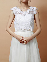 cheap -Sleeveless Lace Party Evening Wedding  Wraps Vests