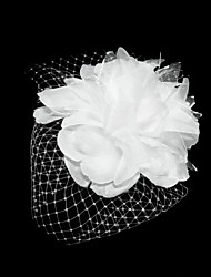 cheap -Tulle Satin Fascinators Flowers Headwear with Floral 1pc Special Occasion Headpiece
