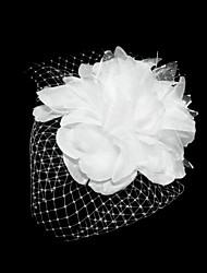 Недорогие -Женский Атлас Тюль Заставка-Особые случаи Вуалетки Цветы