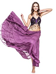 Belly Dance Skirts Women's Performance Linen Pleated 1 Piece Dropped Skirt