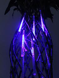 30cm Festival Decoration Blue LED Meteor Rain Lights for Christmas Party (8-Pack, 110-220V)