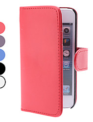 Недорогие -Однотонный чехол из кожзама для iPhone 5 со слотом для денег и кредитных карт (разные цвета)