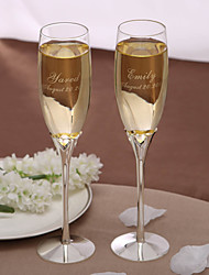 cheap -Personalized Hollow Hearts Toasting Flutes (Set of 2)
