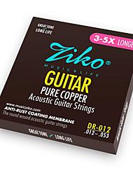 Недорогие -ZIKO - (DR012) Чистая медь акустической гитары Струны (012-053)