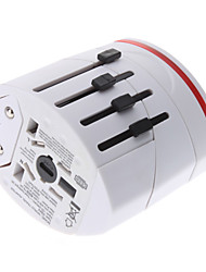 billiga -World Travel Adapter med 2 USB laddare hög kvalitet, hållbar
