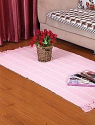 elaine 100% Baumwolle Teppich mit karierten gemusterten (80 * 150cm, rosa)