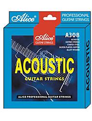 billige -Alice - (A308-SL) belagt stål Acoustic Guitar Strings (011-052)