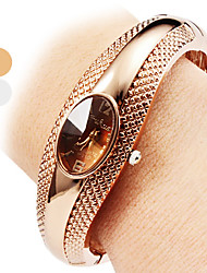 cheap -Women's Quartz Bracelet Watch Casual Watch Alloy Band Casual Elegant Fashion Bangle Silver Bronze