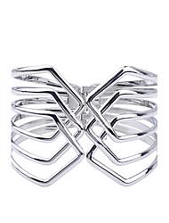 abordables -Femme Manchettes Bracelets - Plaqué argent Bracelet Argent Pour Soirée Quotidien Décontracté