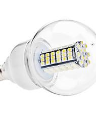 billige -6000lm E14 LED-globepærer G60 120 LED Perler SMD 3528 Naturlig hvid 110-130V 220-240V