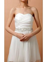 Raso elasticizzato Matrimonio / Party/serata Fusciacca-Con perline / Con cristalli Da donna 210cm Con perline / Con cristalli