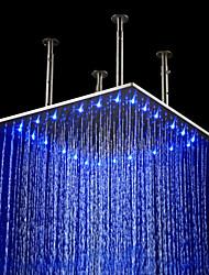 Contemporaneo Doccia a pioggia Spazzolato caratteristica for  LED / Effetto pioggia , Soffione doccia