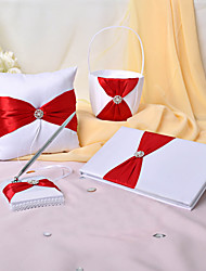 cheap -Elegant BeautifulGarden Theme Collection Set With Satin Wedding Ceremony