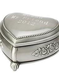 Box personalizados encantadores padrão decorativo Mulheres estanho da liga Jóias