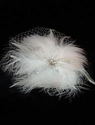 billige -Tyl / Fjer fascinators / Birdcage slør med 1 Bryllup / Speciel Lejlighed / Afslappet Medaljon