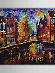 cheap -Hand-Painted Landscape One Panel Canvas Oil Painting For Home Decoration