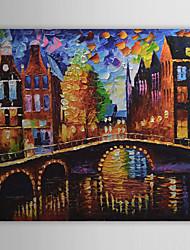 baratos -Pintados à mão Paisagem Horizontal Tela de pintura Pintura a Óleo Decoração para casa 1 Painel