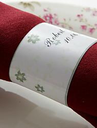 anneau de serviette en papier personnalisé - motif floral (ensemble de 50) réception de mariage