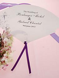 personalizirane biser papir rukom fan - sivi cvijet (set od 12)