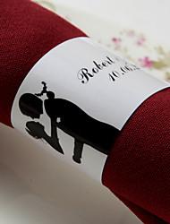abordables -Serviettes de mariage - 50pcs Ronds de serviettes Mariage Anniversaire Soirée de Fiançailles Enterrement de Vie de Jeune Fille Thème