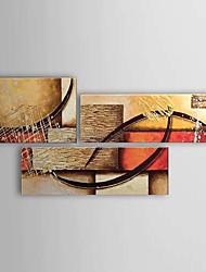 手描きの 抽象画クラシック 3枚 キャンバス ハング塗装油絵 For ホームデコレーション