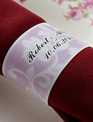 personalizirane papirnati ubrus ring - ružičasta cvjetni dizajn (set od 50)
