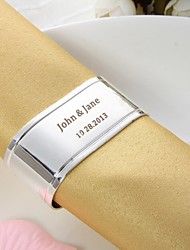 Personalized Oval Silver Plated Napkin Ring Wedding Reception
