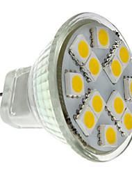 Недорогие -2 W 160 lm GU4(MR11) Точечное LED освещение MR11 12 Светодиодные бусины SMD 5050 Тёплый белый 12 V