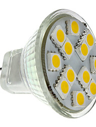 cheap -2W 160 lm GU4(MR11) LED Spotlight MR11 12 leds SMD 5050 Warm White DC 12V