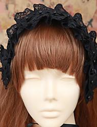 Lolita Jewelry Gothic Lolita Dress Headwear Lolita Men's Women's Lolita Accessories Solid Headpiece Cotton