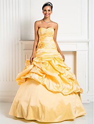 cheap -A-Line Strapless Sweetheart Floor Length Taffeta Prom Dress by TS Couture®