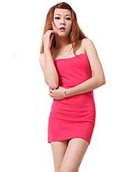 Zhi Yuan Stropløs Candy Color Skede Slim Dress (Flere farver)