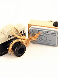 economico -legno modello d'epoca fotocamera timbro (colori casuali)